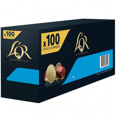Capsule Nespresso Compatibles L'Or Espresso Déca - 10 boîtes - 100 capsules