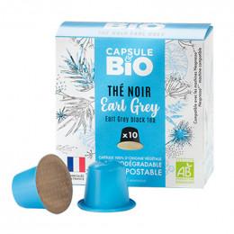 Capsules Nespresso compatible sans aluminium sans plastique - Thé Noir Earl Grey Bio - 10 capsules