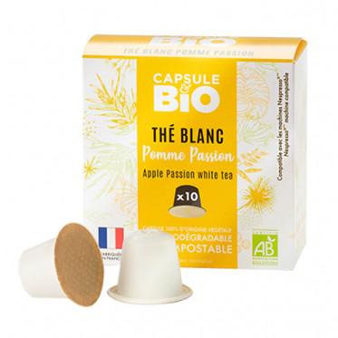 Capsules Nespresso compatible sans aluminium sans plastique - Thé Blanc Pomme Passion Bio - 10 capsules