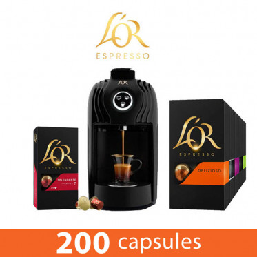 PACK Coffee Corner L'Or Espresso - Capsules L'Or - 3000 boissons