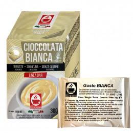 Chocolat blanc chaud dosette individuelle Bonini - 10 sticks