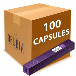 Capsules Nespresso Compatibles Orubia Lungo - 10 tubes - 100 capsules