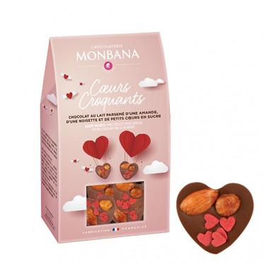 Chocolat Monbana Coeurs Croquants - Etui de 96 gr