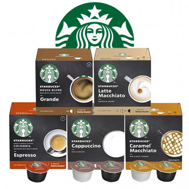 Pack Découverte capsule Starbucks ® by Dolce Gusto ® - 5 boîtes