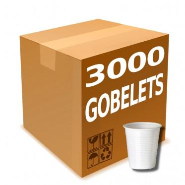 Gobelet en Gros en Plastique Blanc 15 cl - par 3000