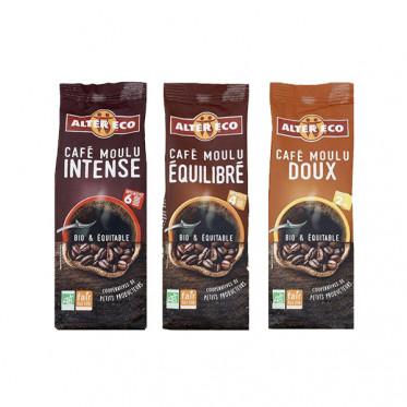 PACK Découverte Café Moulu Bio Alter Eco - 3 paquets - 750 gr