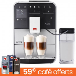 Machine à café en grains Melitta Barista T Smart - Noire Argent