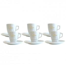 Tasse à café expresso en porcelaine + sous tasse - Voisin - par 6