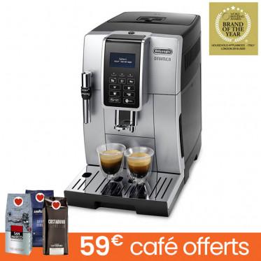 Machine à café en grains DeLonghi Dinamica FEB 3535S.B - Silver Noir