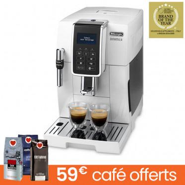 Machine à café en grains DeLonghi Dinamica FEB 3535.W - Blanc