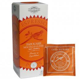 Dosette ESE Cafés Richard Papouasie Nouvelle-Guinée - 25 dosettes emballées individuellement