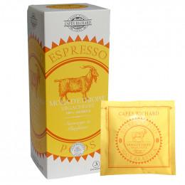 Dosette ESE Cafés Richard Moka Ethiopie Yrgacheffe - 25 dosettes emballées individuellement