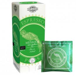 Dosette ESE Bio Cafés Richard Mexique - 25 dosettes emballées individuellement