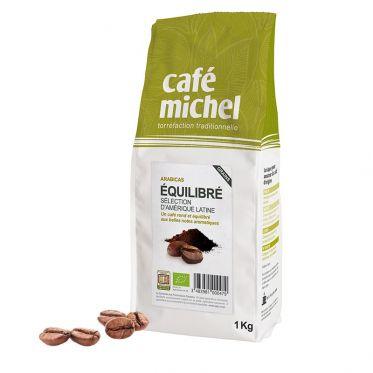 Café en Grains Bio Café Michel Mélange Équilibré - 1 kg