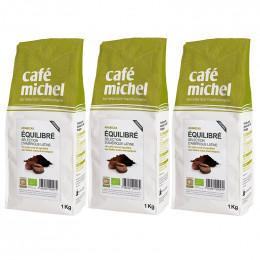 Café en Grains Bio Café Michel Mélange Équilibré - 3 paquets - 3 kg