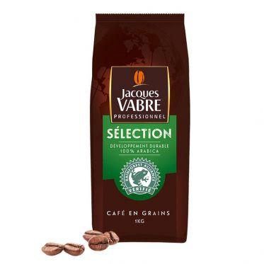 Café en Grains Jacques Vabre Professionnel Sélection 100% Arabica - 1 Kg