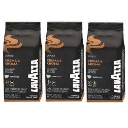 Café en Grains Lavazza Crema & Aroma - 3 paquets - 3 Kg