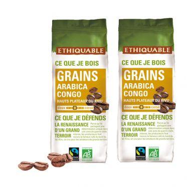 Café en Grains Bio Éthiquable Congo - 500 gr