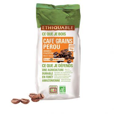 Café en Grains Bio Éthiquable Pérou - 1 kg