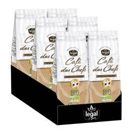 Café en grains Legal Café des Chefs Bio - 6 paquets - 6 kg