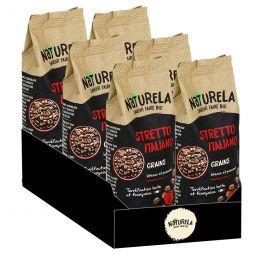 Café en Grains Bio Naturela Stretto Italiano - 6 paquets - 1,5 kg