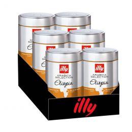 Café en Grains Caffè illy Espresso Sélection Ethiopie - 6 boîtes - 1,5 Kg