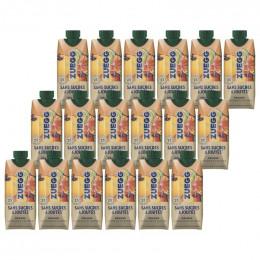 Pack Jus d'orange sanguine et blonde sans sucres ajoutés Zuegg : 16 boissons 33cl