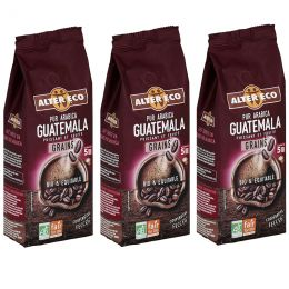 Café en Grains Bio Alter Eco Pur Arabica Guatemala - 3 paquets - 1,5 kg