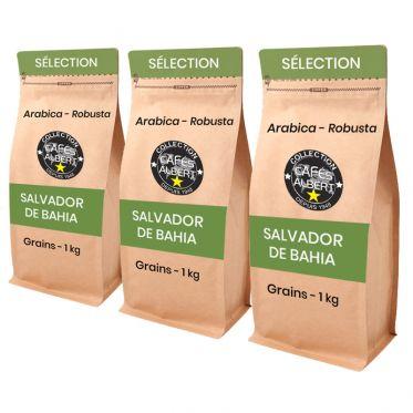 Café en Grains Cafés Albert Salvador de Bahia - 3 paquets - 3 kg