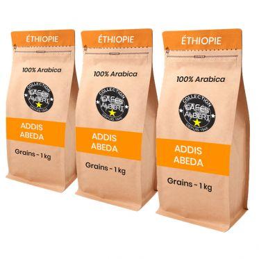 Café en Grains Cafés Albert Addis Abeba Moka - 3 paquets - 3 kg