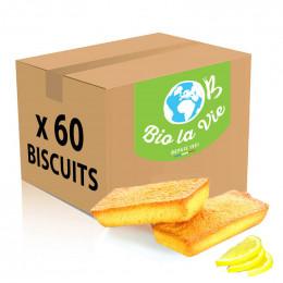 Financier pur beurre aux écorces de citron Bio La Vie - 5 financiers emballés individuellement