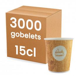 Gobelets Distributeur Automatique en Carton 15 cl Compostable - Bioware - par 2500