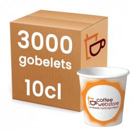 Gobelet en carton recyclable et écologique - Coffee Webstore - 10 cl par 3000
