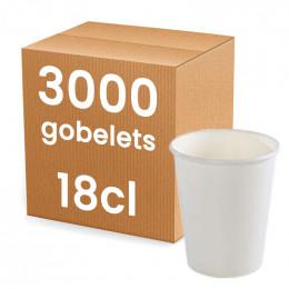 Gobelet en Carton blanc 18 cl - par 3000