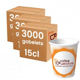 Gobelet en carton recyclable et écologique - Coffee Webstore - 15 cl par 15000