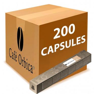Capsule Nespresso Compatible Café Orbica Cremoso - 20 tubes - 200 capsules