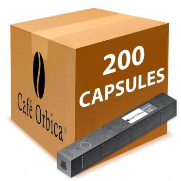 Capsule Nespresso Compatible Café Orbica Ristretto - 20 tubes - 200 capsules