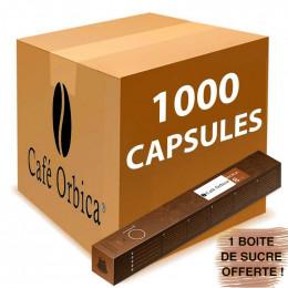 Capsule Nespresso Compatible Café Orbica Moka - 100 tubes - 1000 capsules