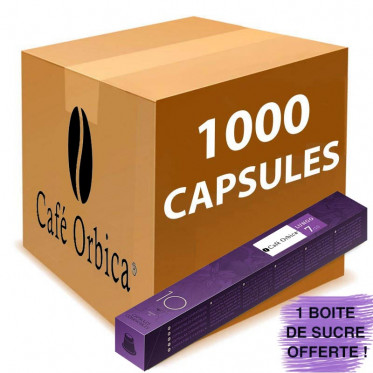 Capsule Nespresso Compatible Café Orbica Lungo - 100 tubes - 1000 capsules