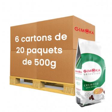 Café en Grains Gimoka Cremoso - 120 paquets - 60 Kg