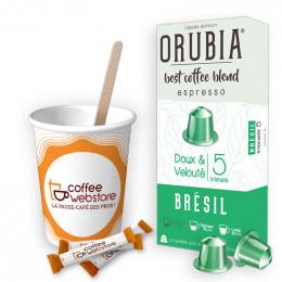 Pack Capsule Nespresso Compatible Orubia Brésil - 200 boissons