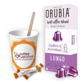 Pack Capsule Nespresso Compatible Orubia Lungo - 200 boissons