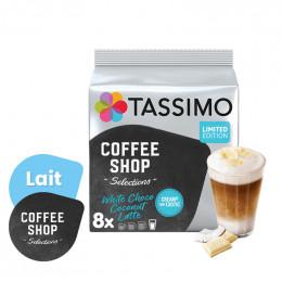Capsule Tassimo Coffee Shop Latte Chocolat Blanc Noix de Coco - 8 boissons