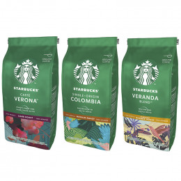 Pack Découverte Café moulu Starbucks ® - 3 x 200 gr