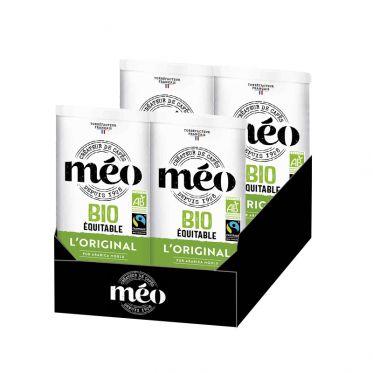Café Moulu Bio Cafés Méo Classique - 4 boites métal - 1 Kg