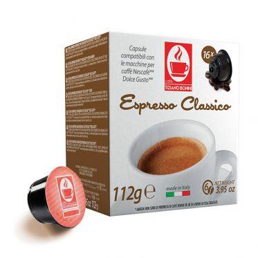 Capsule Dolce Gusto Compatible Café Caffè Bonini Espresso Classico - 16 capsules