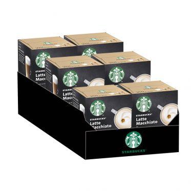 Capsule Starbucks ® by Dolce Gusto ® Latte Macchiato - 6 boîtes - 72 capsules - 36 boissons