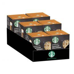 Capsule Starbucks ® by Dolce Gusto ® Caramel Macchiato - 6 boîtes - 72 capsules - 36 boissons
