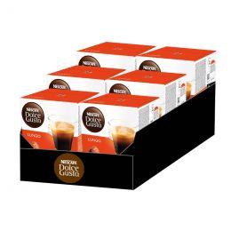 Capsules Nescafé Dolce Gusto Café Lungo - 6 boîtes - 96 capsules