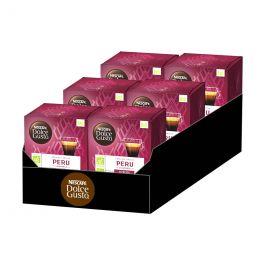 Capsules Nescafé Dolce Gusto Café Bio Peru - 6 boîtes - 72 capsules